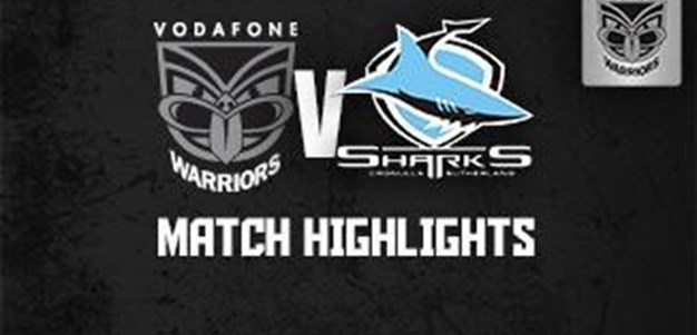 Round 3 Vodafone Warriors v Sharks Highlights