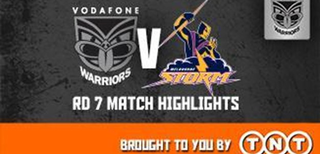 Vodafone Warriors v Storm Rd7 (Highlights)
