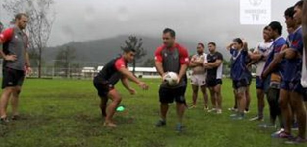 Vodafone Warriors in Samoa - Day 3
