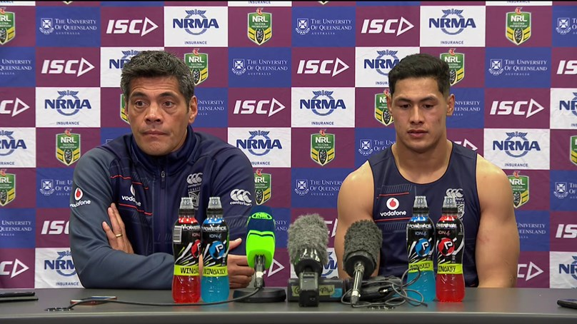 Warriors press conference - Round 18
