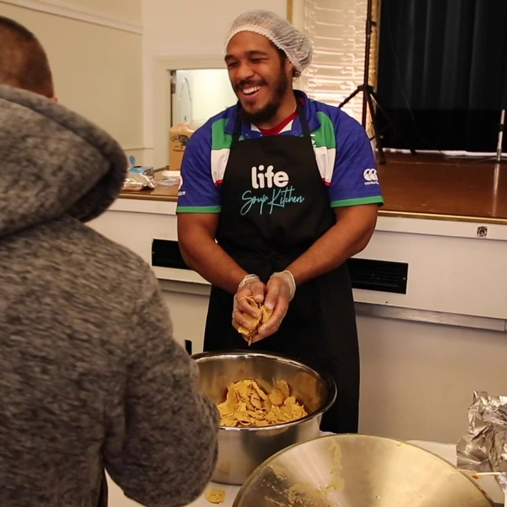 Vodafone Warriors at Life Soup Kitchen Mangere East