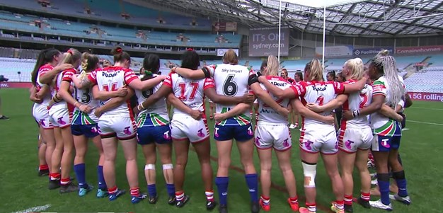 Emotional scenes as NRLW teams lock arms