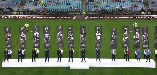 Honouring retiring players