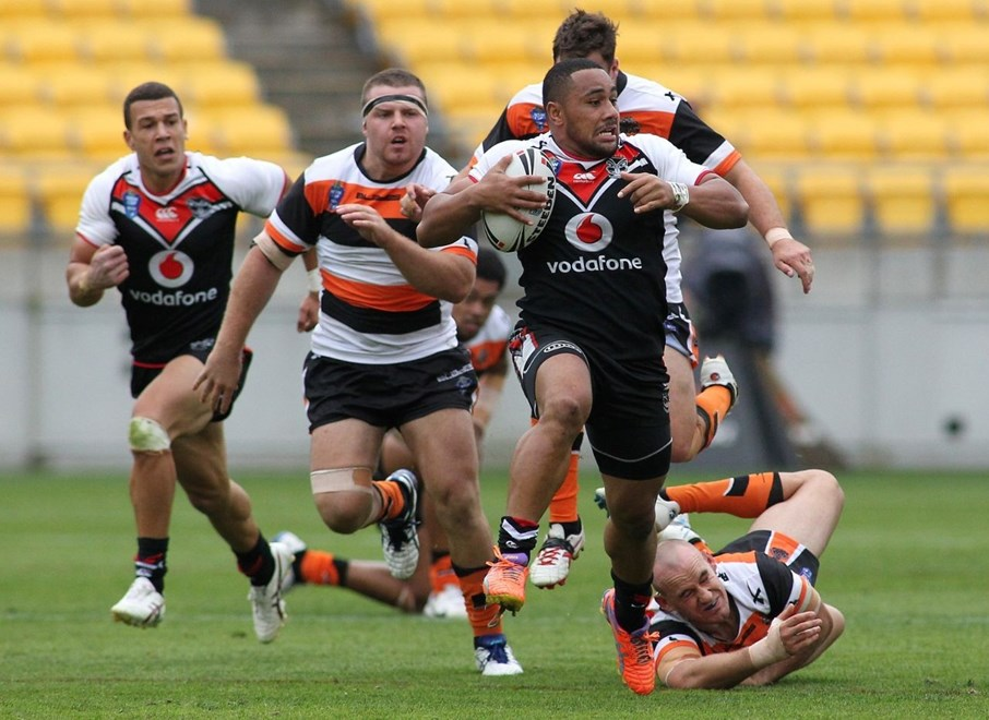 Strong-running Ngani Laumape scored a first-half double in today's win over the Sharks. Photo: www.photosport.co.nz