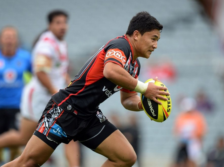 Vodafone Junior Warriors co-captain Mason Lino lines up for his 49th NYC match on Friday. Copyright image | www.photosport.co.nz