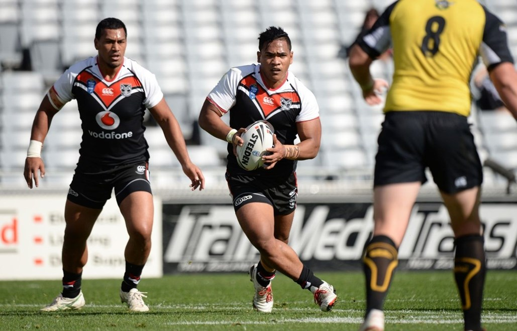 Solomone Kata is in the centres again for the Vodafone Warriors in the New South Wales Cup today. Image | www.photosport.co.nz