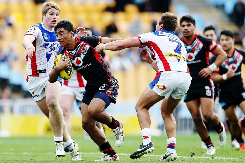 Ata Hingano returns to the line up for the Vodafone Junior Warriors against Brisbane today. Image | www.photosport.co.nz