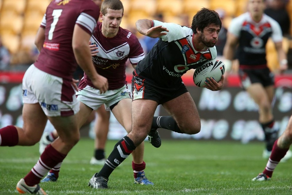 David Bhana of the Warriors. New Zealand Warriors v Manly Sea Eagles. NSW Cup rugby league match at Mount Smart Stadium, Auckland, New Zealand. Sunday 27 July 2014. Photo: Jason Oxenham/Photosport.co.nz