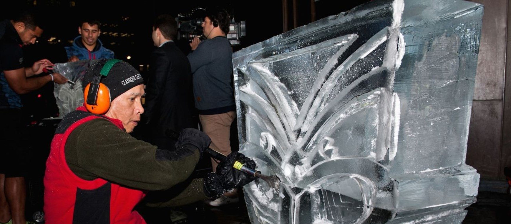 Ice sculpting at SKYCITY