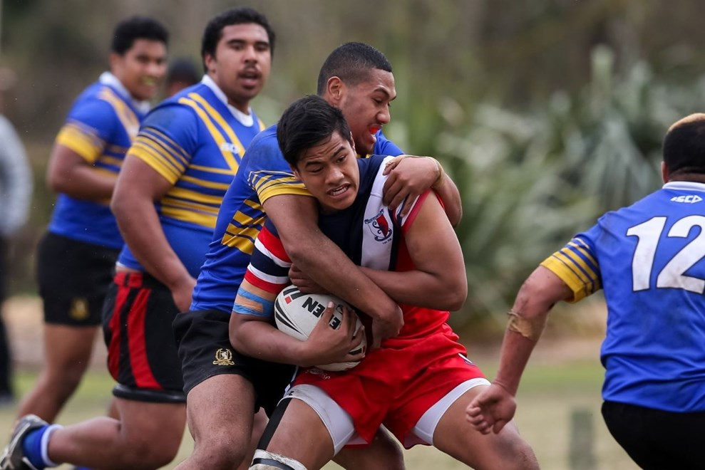Eddie Wulf lines up for New Zealand Secondary Schools tomorrow after helping his Kelston Boys' High School side to the national title earlier this month. Image | www.photosport.co.nz