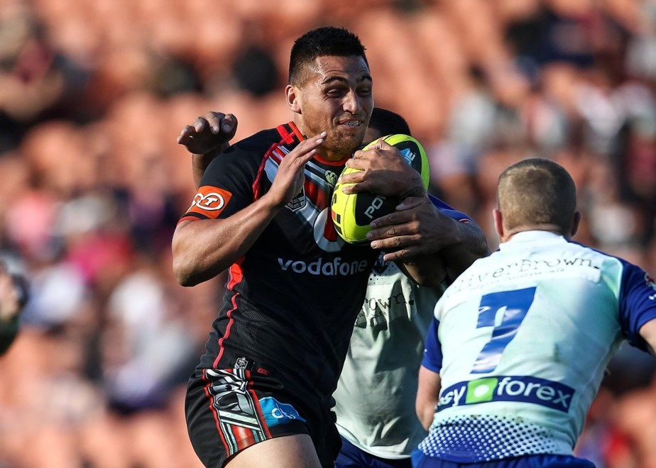 Kouma Samson is back in Vodafone Warriors colours today for the first time since last year's NYC grand final. Image | www.photosport.co.nz