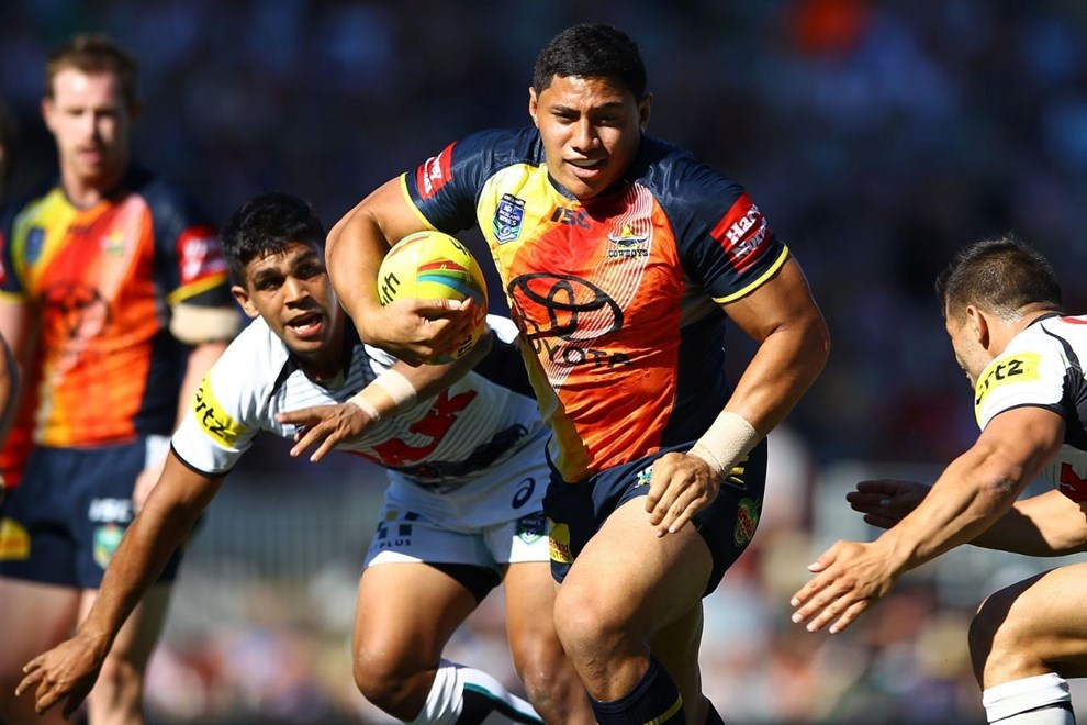 North Queensland's Jason Taumalolo has been named at loose forward for his Kiwi Test debut against the Kangaroos on Saturday. Image | www.photosport.co.nz