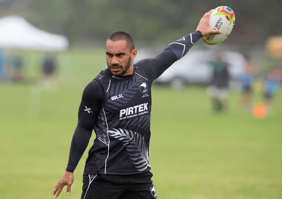Thomas Leuluai at a Kiwis Training Session, Four Nations Rugby League, Glenfield, Auckland, New Zealand, Tuesday, October 28, 2014. Photo: David Rowland/Photosport