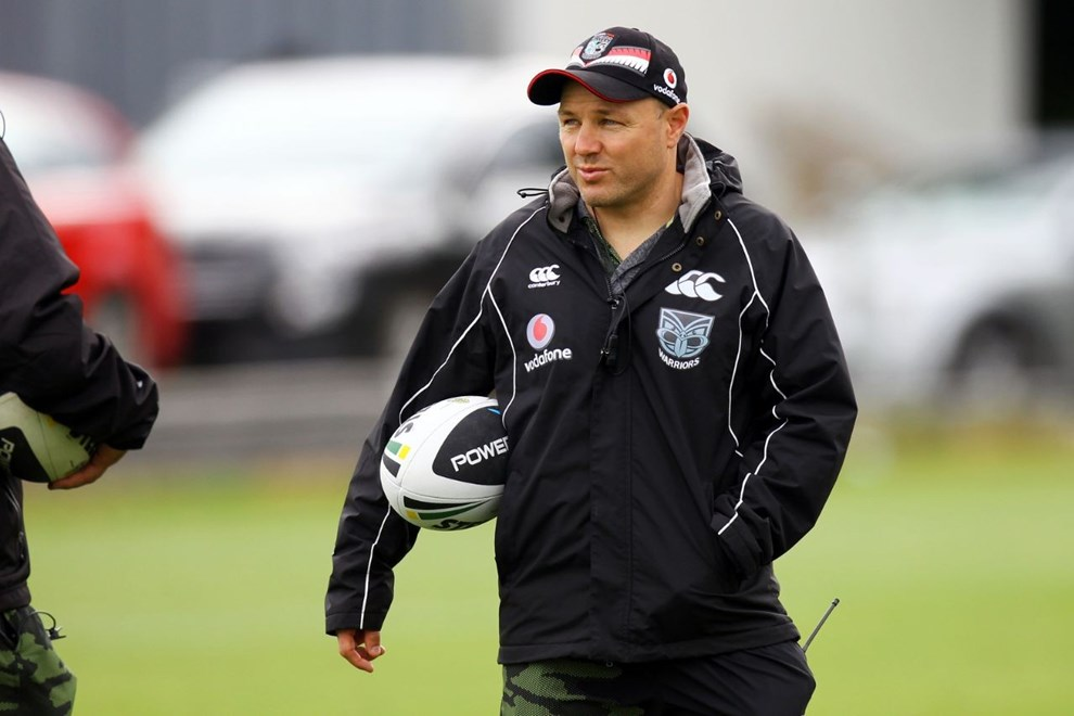 Vodafone Warriors head coach Andrew McFadden preparing his troops for their 2015 NRL campaign. Iamge | www.photosport.co.nz
