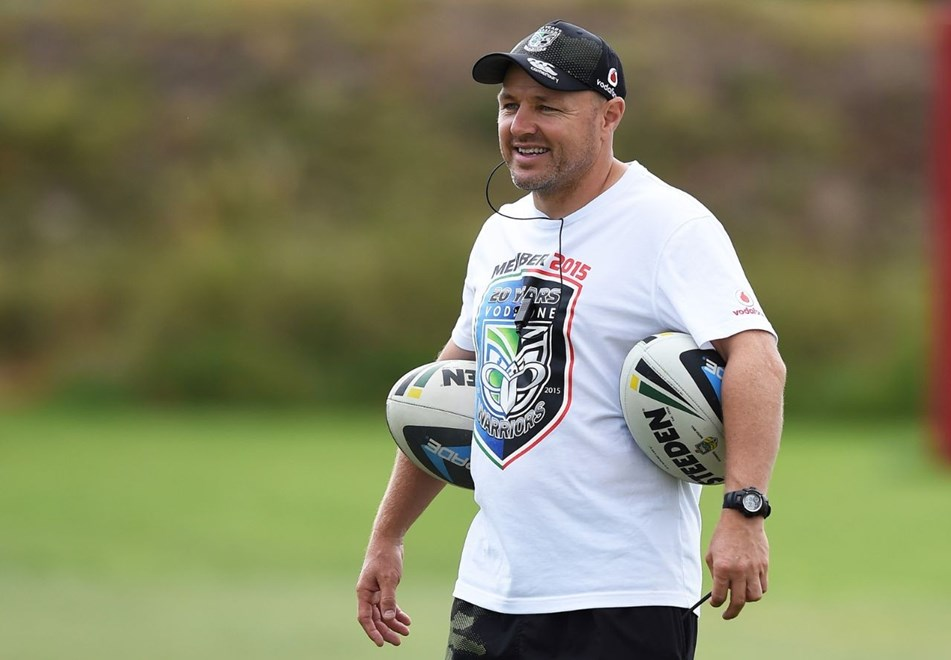 Coach Andrew McFadden during a Vodafone Warriors NRL rugby league training session. Mt Smart Stadium, Auckland. 22 January 2015. Copyright Photo: Andrew Cornaga/www.photosport.co.nz