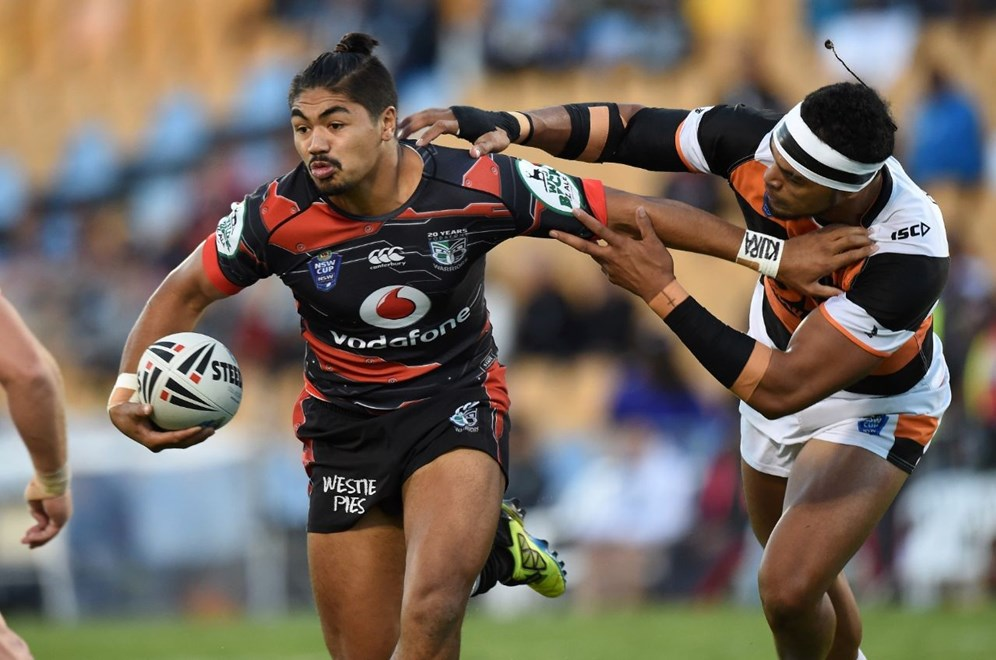 JAMES BELL. Vodafone Warriors v  West Tigers. VB NSW Cup Rugby League. Mt Smart Stadium, Auckland. New Zealand. Saturday 11 April 2015. Copyright Photo: Andrew Cornaga/www.Photosport.co.nz