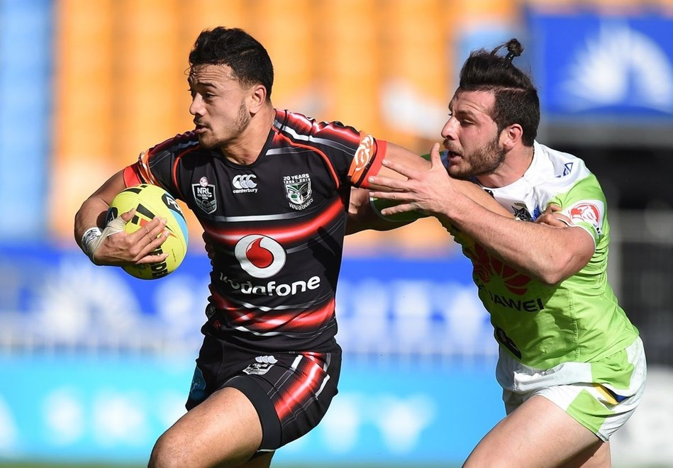 Paul Ulberg returns on the wing for the Vodafone Junior Warriors in their NYC clash against Manly tomorrow. Image | www.photosport.nz
