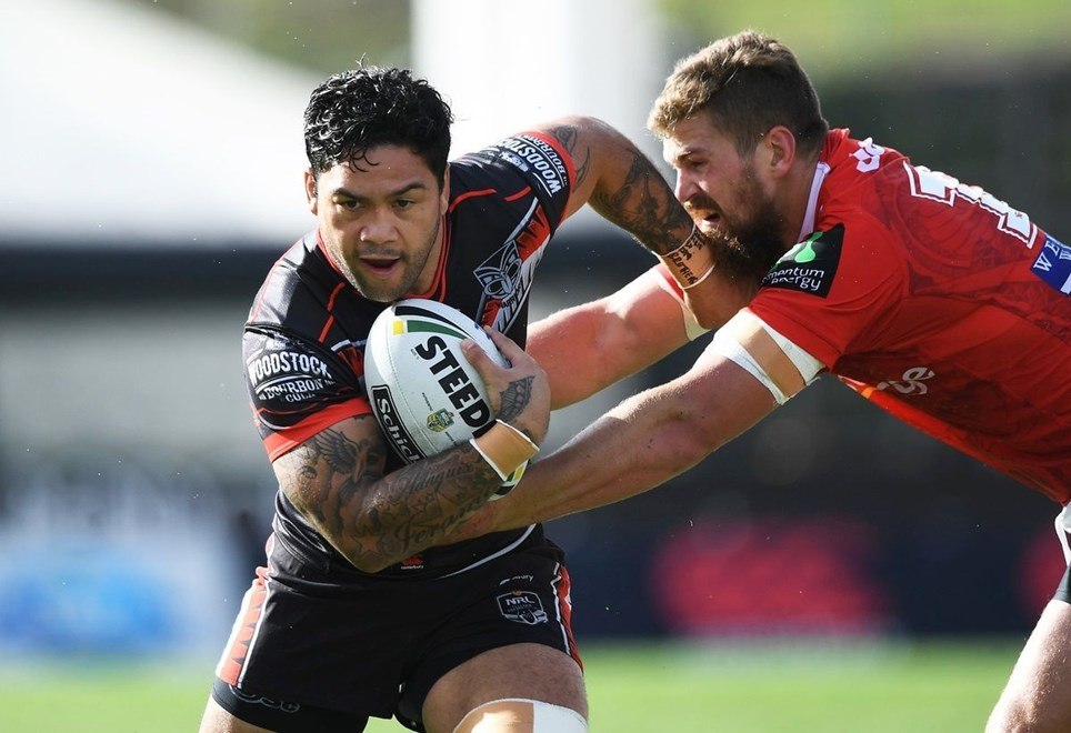Issac Luke. Vodafone Warriors v St George Dragons, NRL Rugby League. Mt Smart Stadium, Auckland, New Zealand. Sunday 1 May 2016. Copyright Photo: Andrew Cornaga / www.Photosport.nz