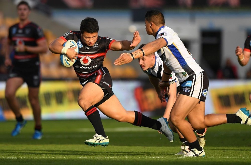 Mason Lino breaks out. NSW Cup. Vodafone Warriors v Wentworthville, NRL Rugby League. Mt Smart Stadium, Auckland, New Zealand. Saturday 3 June 2016. © Copyright Photo: Andrew Cornaga / www.Photosport.nz