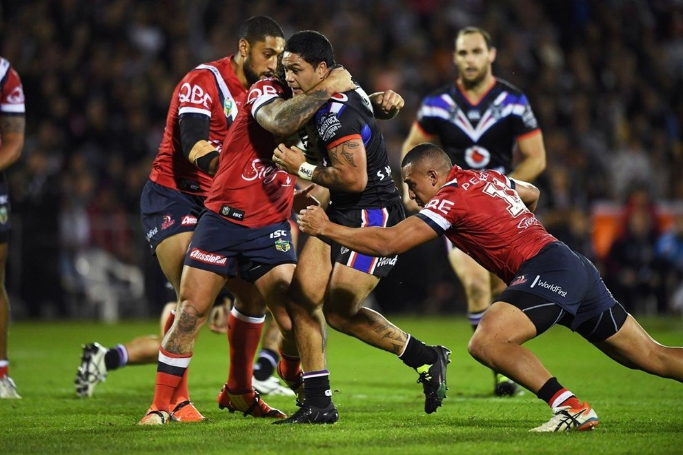 Issac Luke. Vodafone Warriors v Sydney Roosters. NRL Rugby League. Mt Smart Stadium, Auckland, New Zealand. Sunday 19 June 2016. © Copyright Photo: Andrew Cornaga / www.Photosport.nz