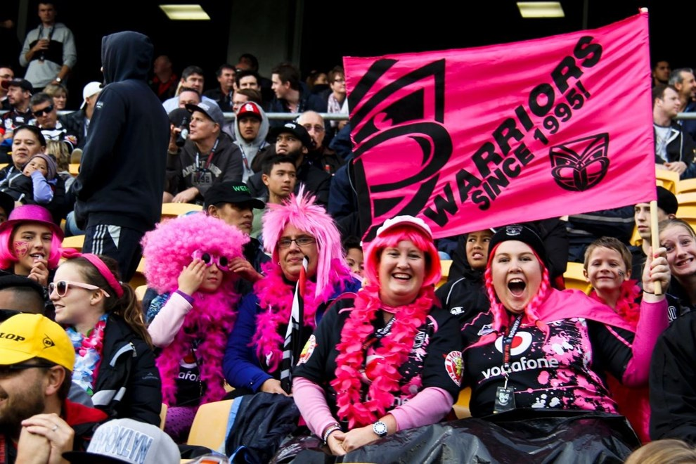 Fans support Women in League dressed in pink from head to toe.   Photographer l Becky Stokes