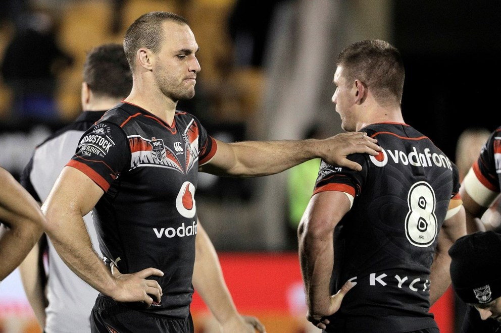 Simon Mannering at the end of the game during the NRL match Warriors v Rabbitohs at Mt Smart Stadium on Saturday 13 August 2016. Auckland, New Zealand. © Copyright Photo: Fiona Goodall / www.photosport.nz