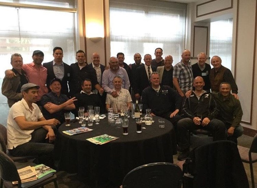 Some of the former players who attended the 2016 ex-Kiwis' reunion. Back row (from left): Shane Varley