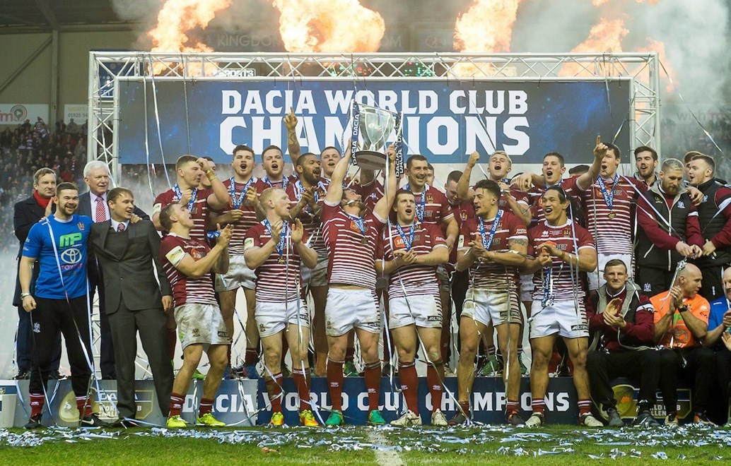 Picture by Allan McKenzie/SWpix.com - 19/02/2017 - Rugby League - Dacia World Club Series - Wigan Warriors v Cronulla Sharks - DW Stadium