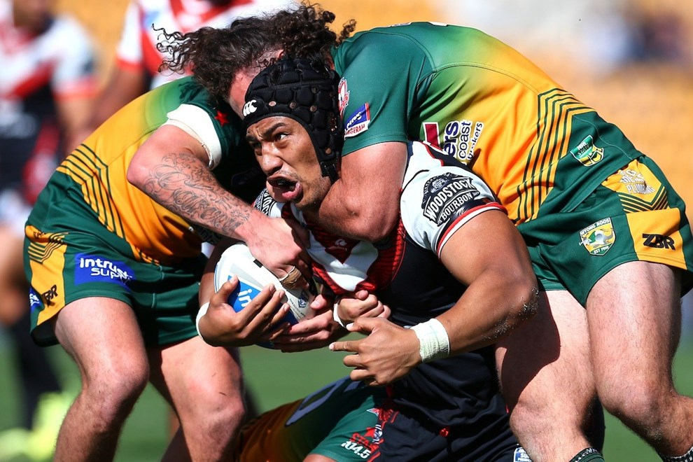 Albert Vete. NZ Warriors v Wyong Roos