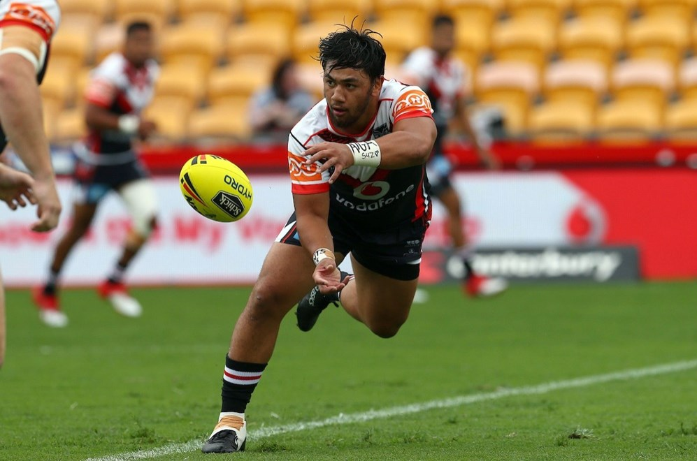 Chris Sio: NYC rugby league, Warriors v Knights, Mt Smart Stadium, Auckland, Sunday 5 March, 2017. Photo: Renee McKay / www.photosport.nz