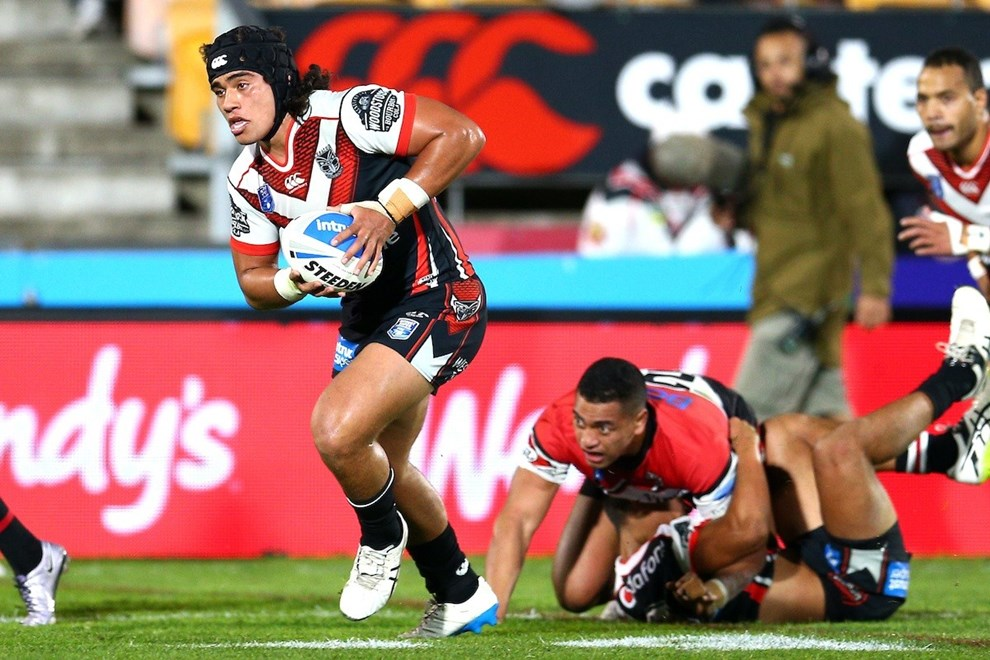 Isaiah Papali'i. NZ Warriors v North Sydney Bears, Round 12 of the 2017 ISP Intrust Super Premiership Rugby League season at Mt Smart Stadium, Auckland, New Zealand. 27 May 2017. Copyright photo: Renee McKay / www.photosport.nz