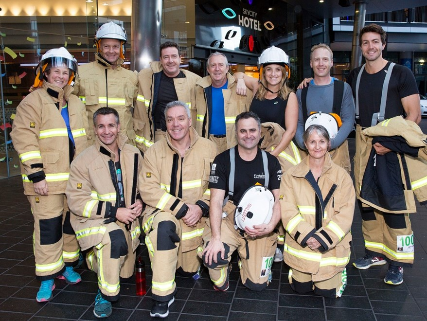 Skycity Firefighter Skytower Challenge, fundraiser for Leukaemia & Blood Cancer NZ. Auckland. 13th May 2017.