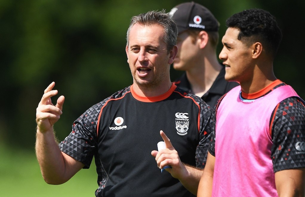 Assistant coach Steve McNamara during a Vodafone Warriors training session at Mt Smart Stadium