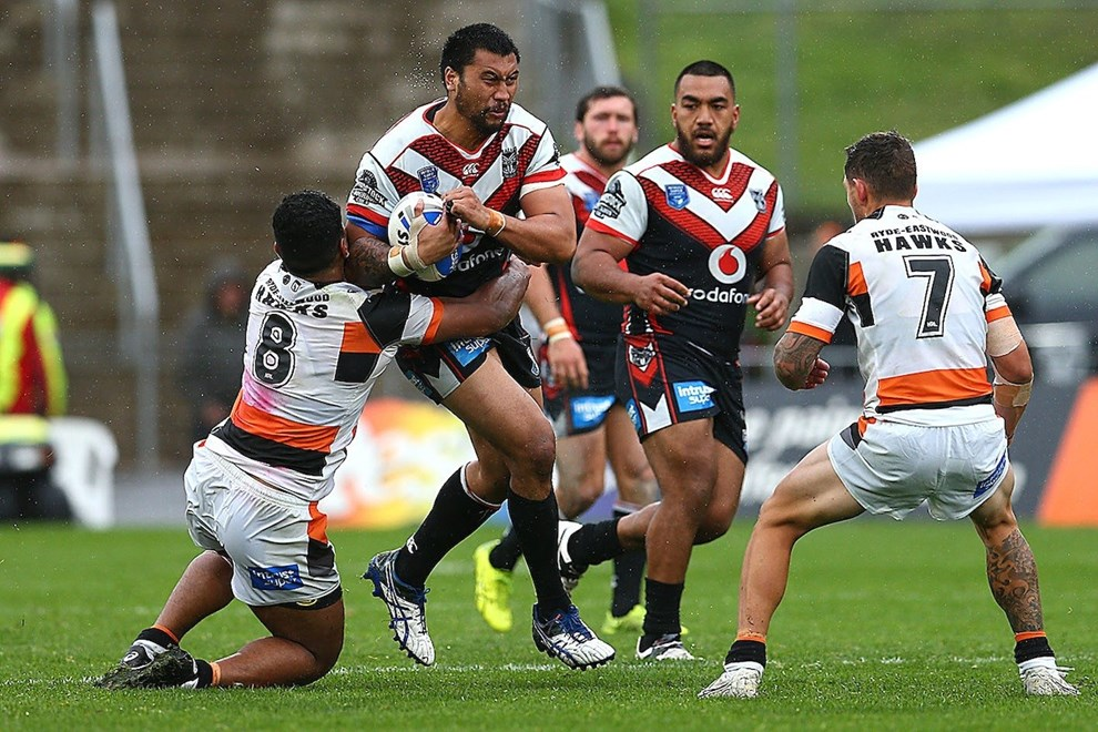 Ligi Sao. NZ Warriors v Wests Tigers, 2017 ISP Intrust Super Premiership Rugby League season at Mt Smart Stadium, Auckland, New Zealand. 27 August 2017. Copyright photo: Renee McKay / www.photosport.nz