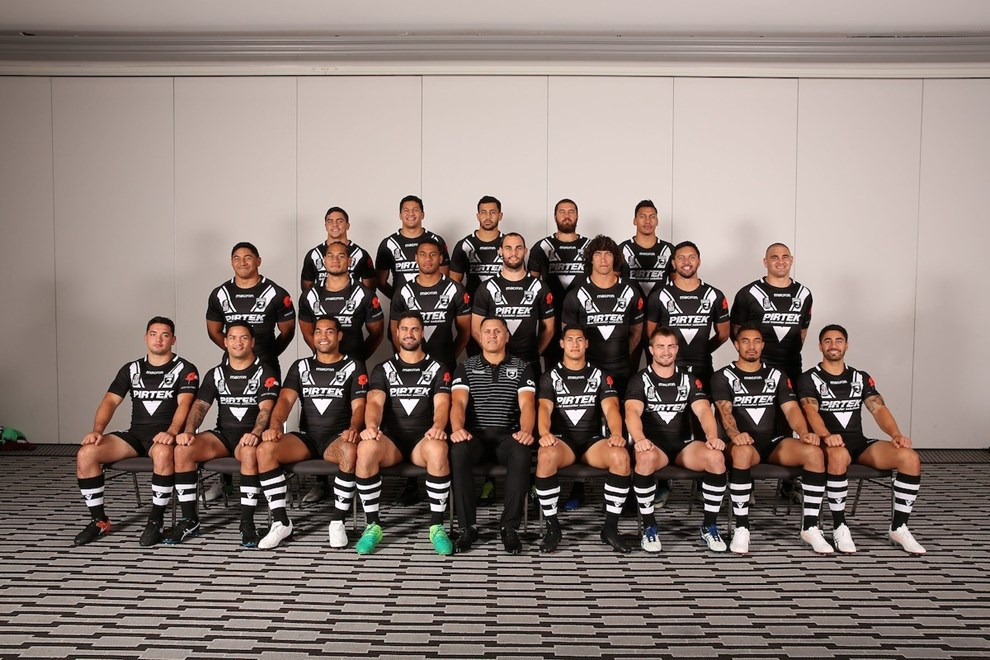 Team Photo, New Zealand Kiwis Headshots and team photo session ahead of the 2017 ANZAC rugby league test match in Brisbane, 1 May 2017. Photo: Robb Cox/NRL photos / www.photosport.nz
