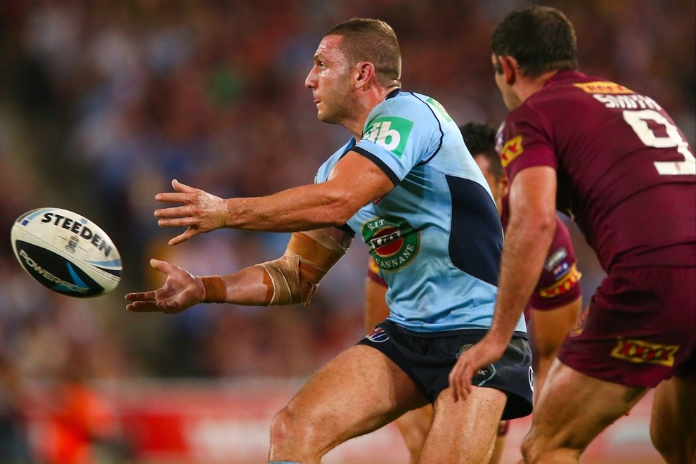 New South Wales hooker Robbie Farah during the State of Origin match between New South Wales and Queensland at Suncorp Stadium, Brisbane, 28 May 2014.