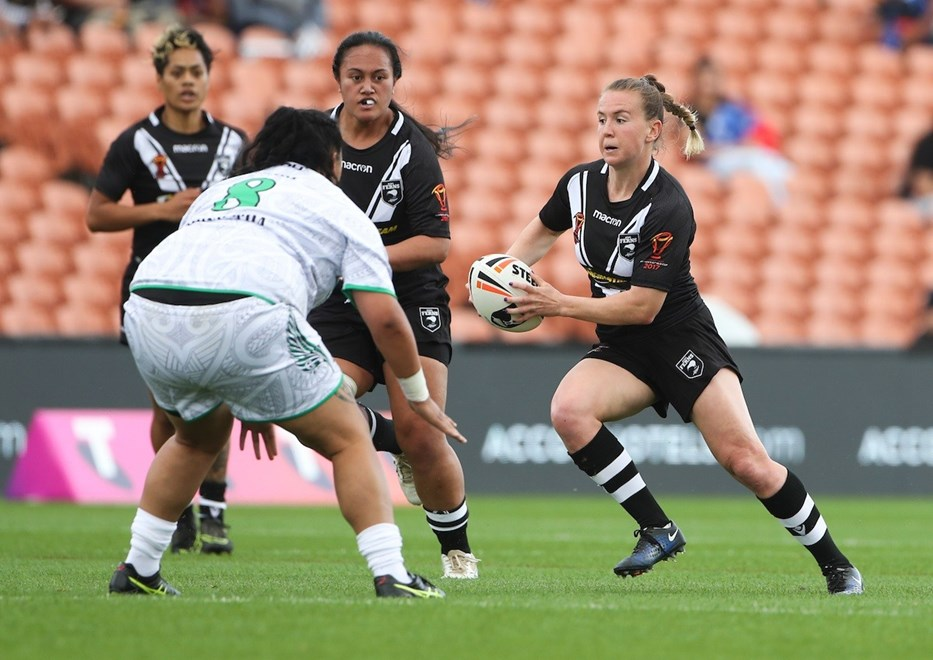 Kiwi Fern's Georgia Halen. Kiwi Ferns v NZ Maori Women, FMG Stadium, Hamilton, New Zealand. Saturday, 4 November, 2017. Copyright photo: John Cowpland / www.photosport.nz
