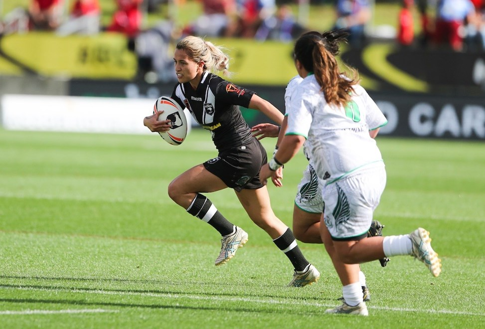 Kiwi Fern's Kimiora Nati. Kiwi Ferns v NZ Maori Women, FMG Stadium, Hamilton, New Zealand. Saturday, 4 November, 2017. Copyright photo: John Cowpland / www.photosport.nz