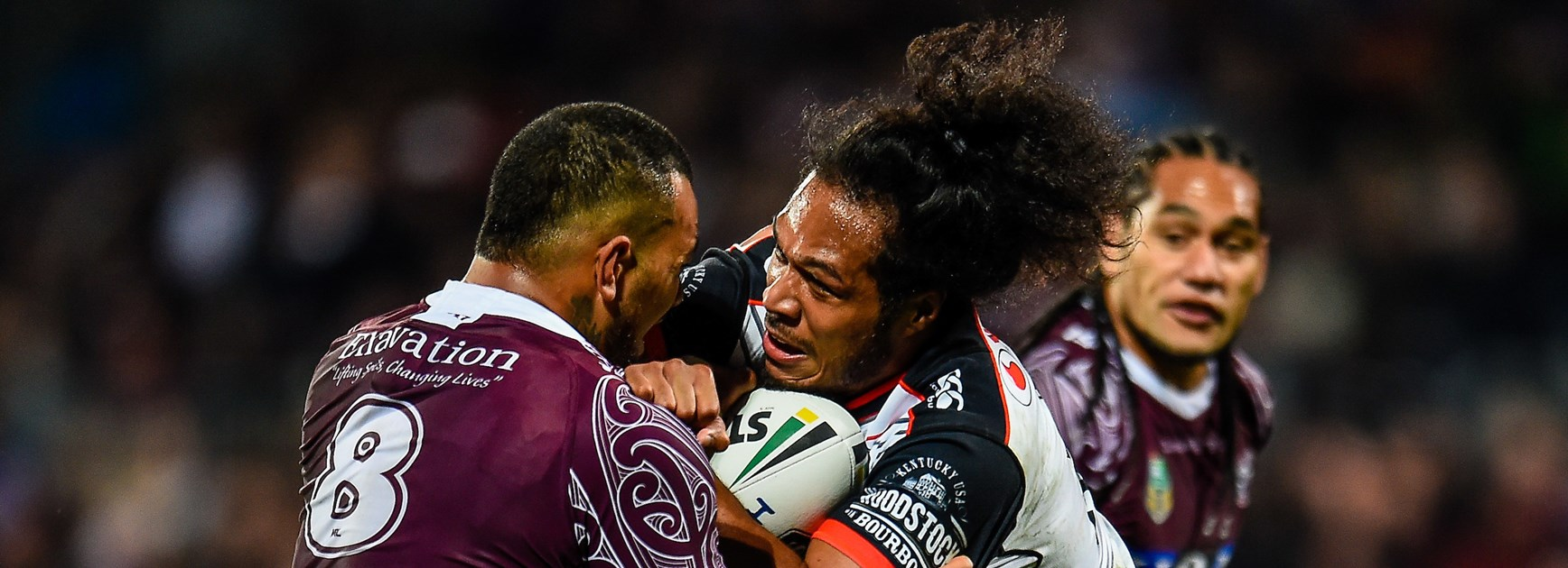 Warriors rout Sea Eagles in Johnson's 150th