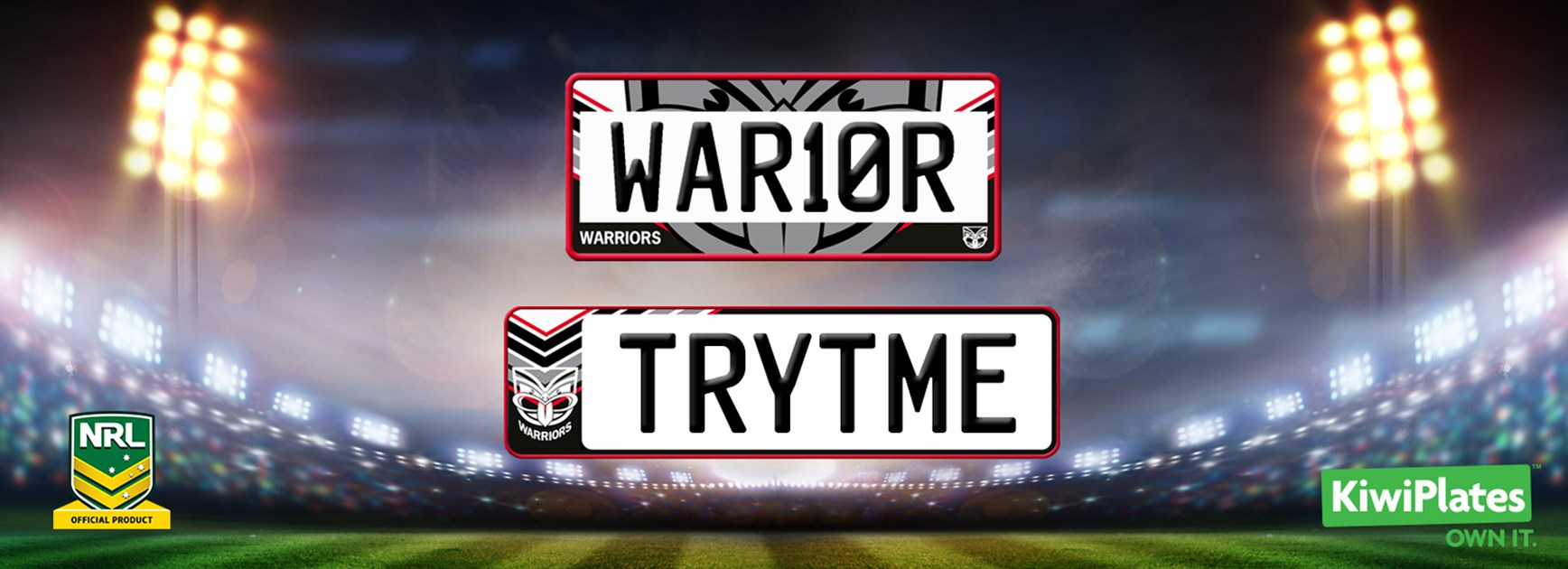 Customise your plates with the Vodafone Warriors