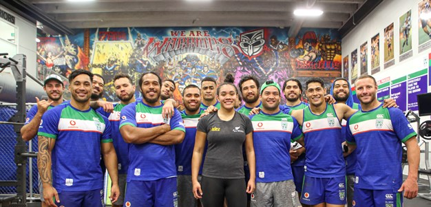 Paralympian joins Vodafone Warriors gym session