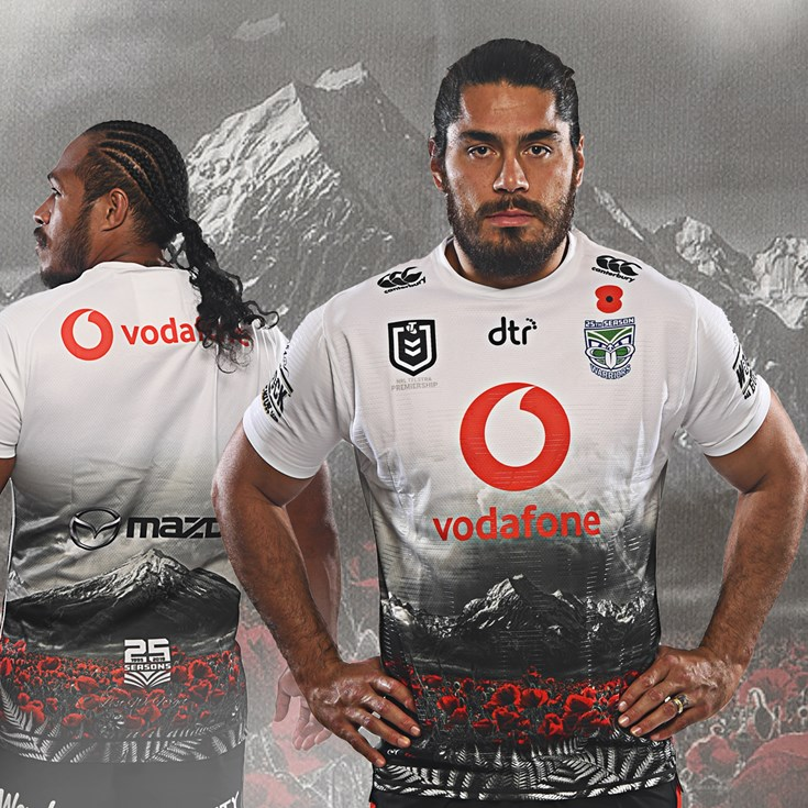b0a0d3e7 2019 ANZAC jersey to be worn on Anzac Day - Warriors