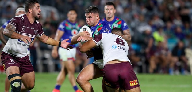 Vodafone Warriors edged out by Manly in tense encounter